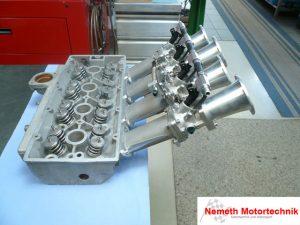Zylinderkopf und Einzeldrossel Ford BDA